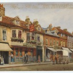 The George, Twickenham by Evacustes A. Phipson . Watercolour, 1915
