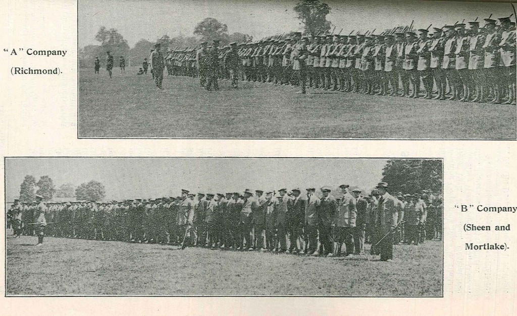 On parade in Richmond 1915