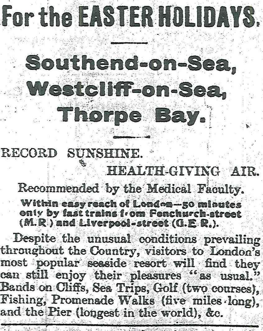 Holidays, Spring 1915