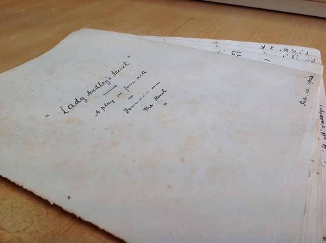 Lady Audley manuscript
