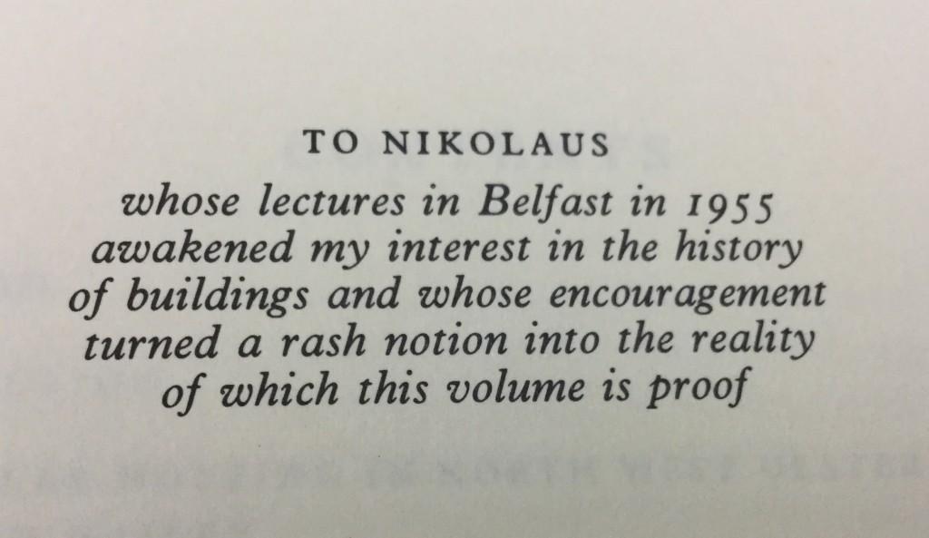 Dedication to Nikolaus Pevsner