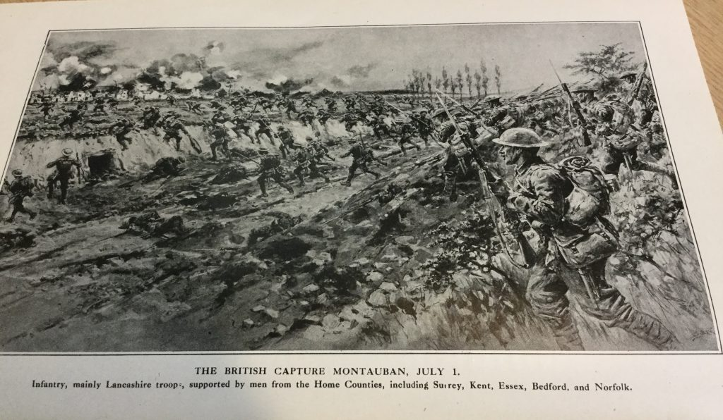 The British capture Montauban, July 1.