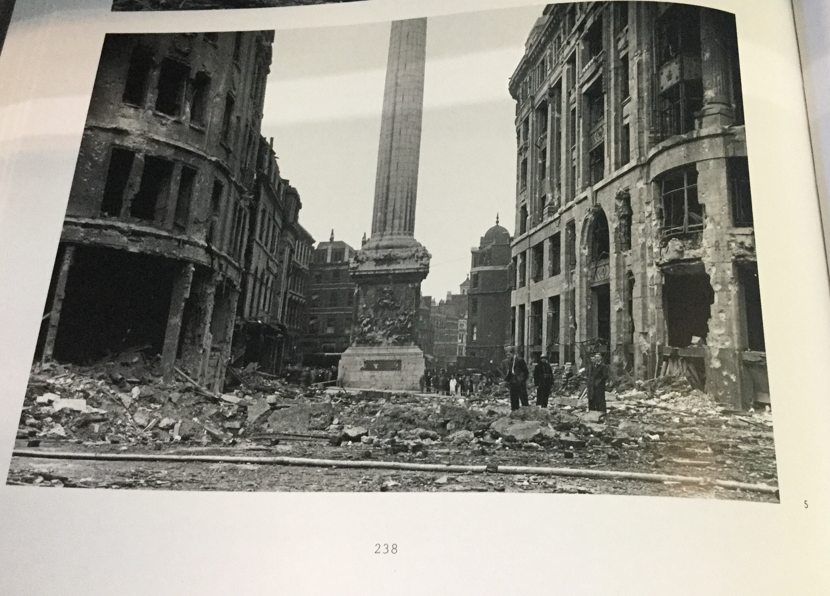 King William Street Looking Towards The Monument Showing Damage Caused By A High Explosive Bomb At 330am On 9 September 1940