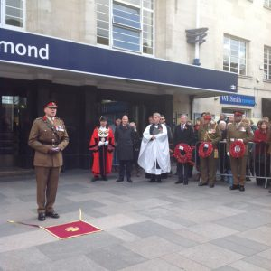 Memorial stone unveiled - Richmond Railway Station