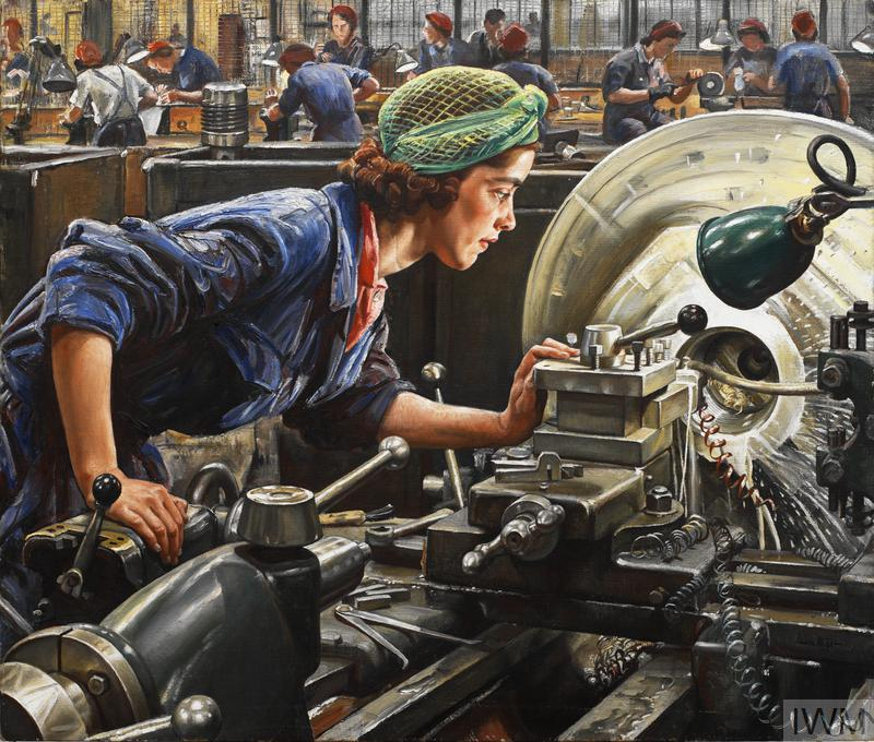 2. Ruby Loftus screwing a Breech-ring © IWM (Art.IWM ART LD 2850)