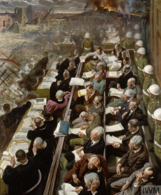 4. The Nuremberg Trial, 1946 © IWM (Art.IWM ART LD 5798)