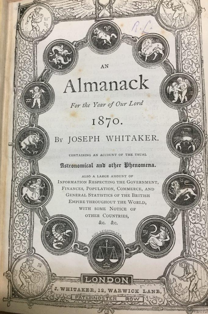 Whitaker's 1870