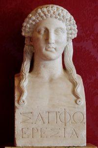 Roman bust of Sappho