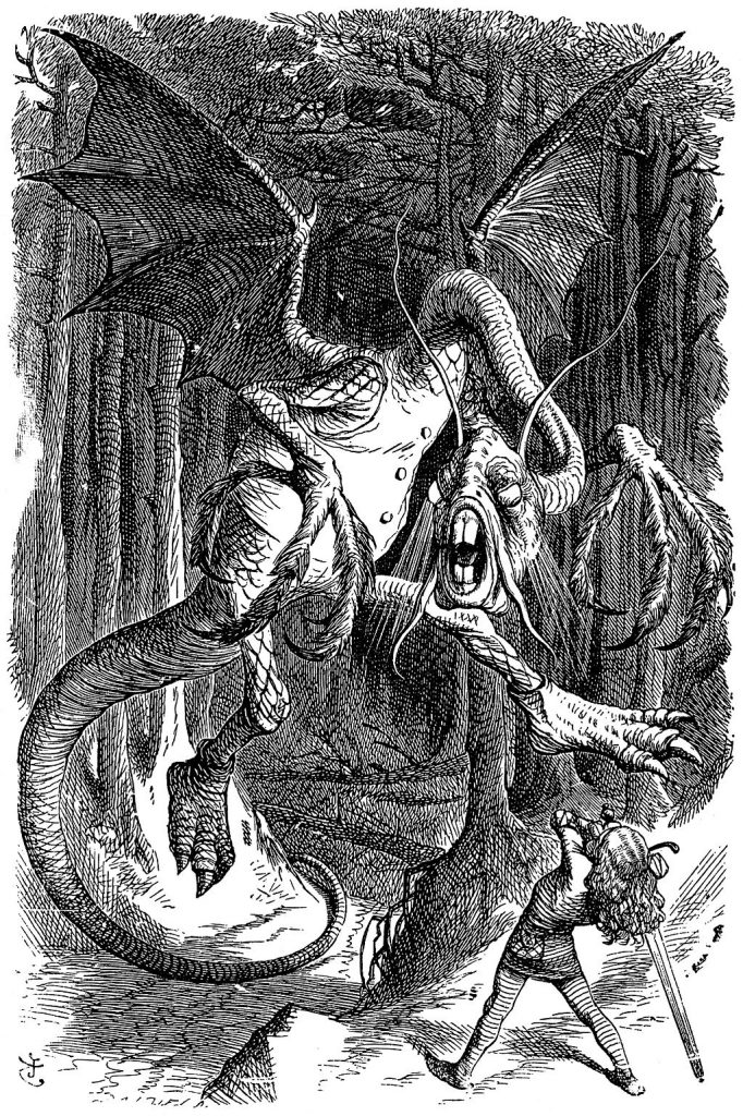The Jabberwocky as depicted by John Tenniel