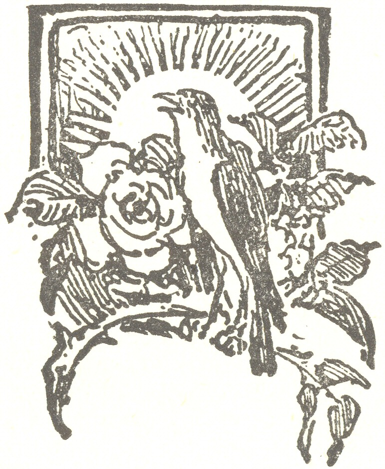 Ilustration from the Nightingale and the Rose