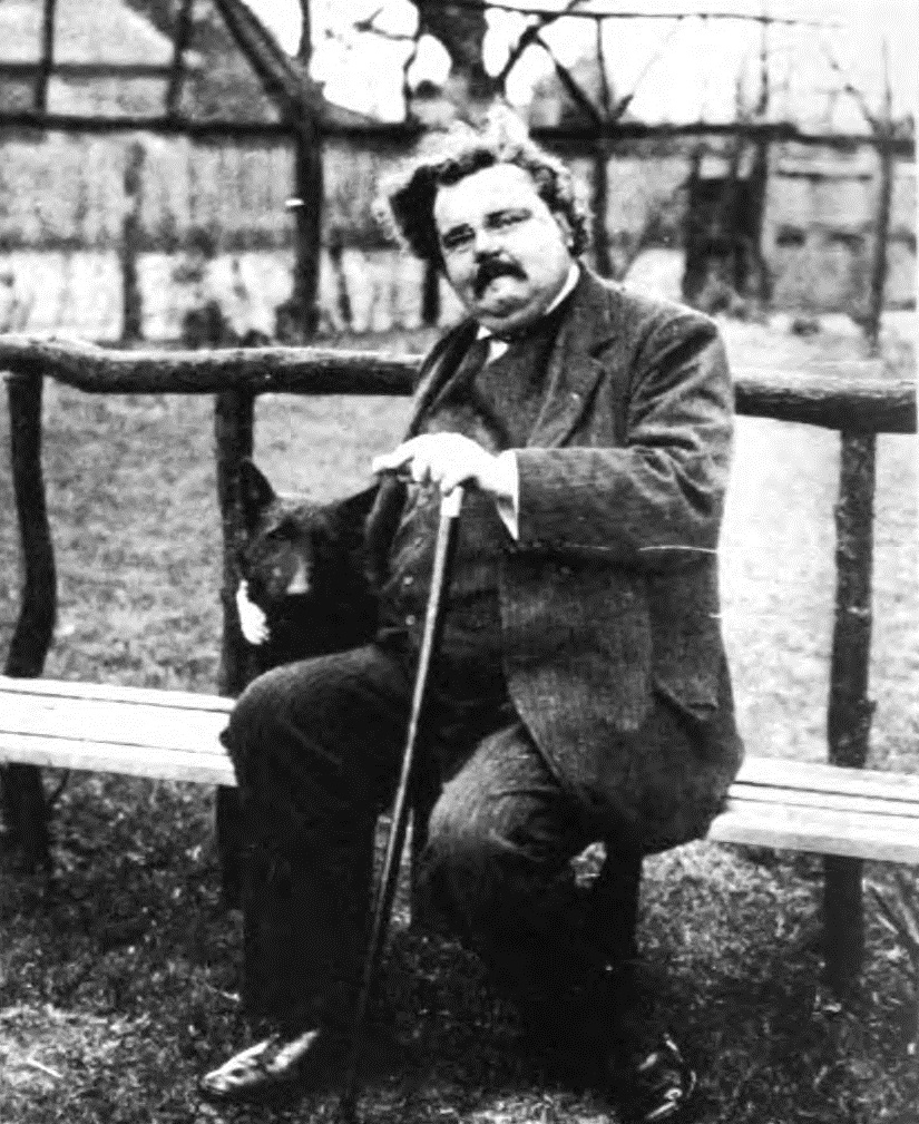 Chesterton with a dog